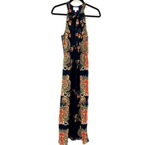 Everly Paisley Floral Print Sleeveless Maxi Dress